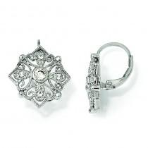 CZ Dangle Earrings in Sterling Silver