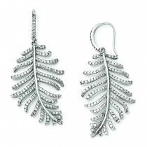 Dangle Leaf Earrings in Sterling Silver