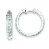 Diamond Hoop Earrings in Sterling Silver