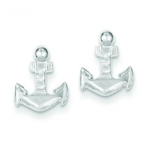Anchor Mini Earrings in Sterling Silver