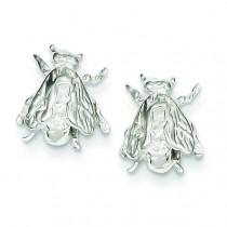 Bee Mini Earrings in Sterling Silver
