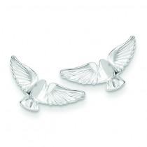 Bird Mini Earrings in Sterling Silver