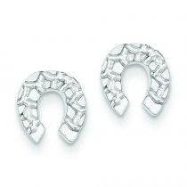 Horseshoe Mini Earrings in Sterling Silver