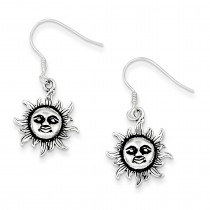 Sun Earrings in Sterling Silver