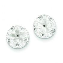 Sand Dollar Mini Earrings in Sterling Silver
