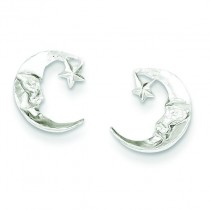 Moon Mini Earrings in Sterling Silver