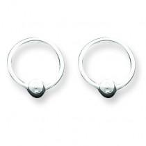 Ball Hoop Earrings in Sterling Silver