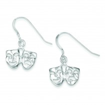 Comedy Tragedy Earrings in Sterling Silver