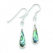 Abalone Dangle Earrings in Sterling Silver