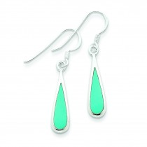 Dangling Turquoise Earrings in Sterling Silver