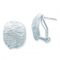 Omega Back Earrings in Sterling Silver