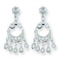 CZ Chandelier Style Earrings in Sterling Silver