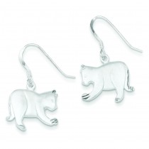 Satin Cat Earrings in Sterling Silver