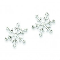 Snowflake Post Earrings in Sterling Silver