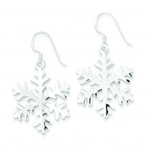 Snowflake Dangle Earrings in Sterling Silver
