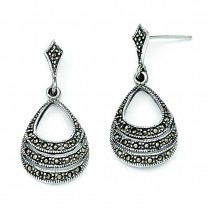 Marcasite Earrings in Sterling Silver