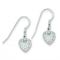 Heart Diamond Earrings in Sterling Silver (0.01 Ct. tw.) (0.01 Ct. tw.)