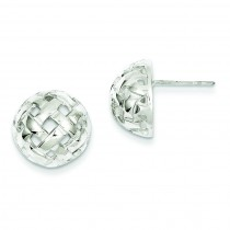 Fancy Ball Post Earrings in Sterling Silver