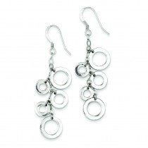 Multi-Circle Drop Earrings in Sterling Silver
