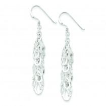Fancy Drop Earrings in Sterling Silver