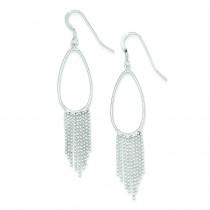 Fringe Dangle Earrings in Sterling Silver