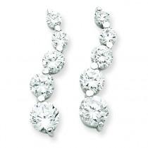 CZ Journey Earrings in Sterling Silver