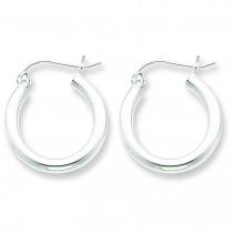 Tubed Hoop Earrings in Sterling Silver