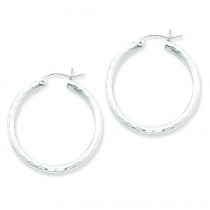 Diamond Cut Hoop Earrings in Sterling Silver