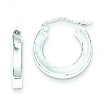 Square Tube Hoop Earrings in Sterling Silver