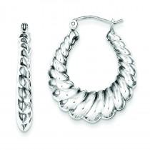 Shrimp Hoop Earrings in Sterling Silver