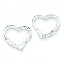 Heart Earrings in Sterling Silver