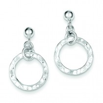 Dangling Circle Earrings in Sterling Silver