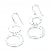 Oval Dangle Earrings in Sterling Silver