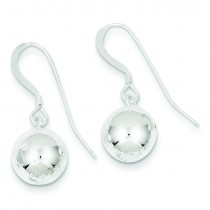 Diamond Cut Bead Dangle Earrings in Sterling Silver