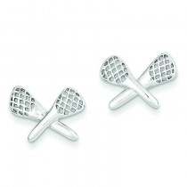 Lacrosse Earrings in Sterling Silver