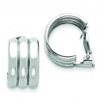 Clip Back Non-pierced Earrings in Sterling Silver