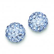 Blue Swarovski Crystal Earrings in Sterling Silver