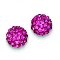 Pink Swarovski Crystal Earrings in Sterling Silver