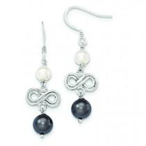 Freshwater Cultured Pearl Earrings in Sterling Silver