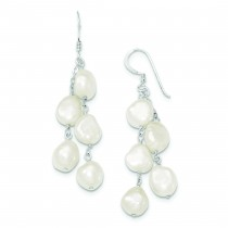 Strand Freshwater Cultured Pearl Dangle Earrings in Sterling Silver