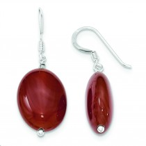 Carnelian Earrings in Sterling Silver
