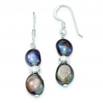 Light Dark Grey Freshwater Cultured Pearl Earrings in Sterling Silver