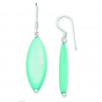 Blue Mother Of Pearl Earrings in Sterling Silver