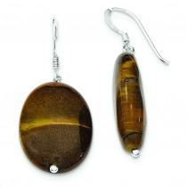 Tiger Eye Dangle Earrings in Sterling Silver