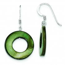 Dyed Mother Of Pearl Earrings in Sterling Silver
