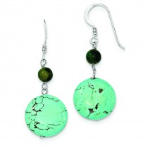 Dyed Howlite Stabilized Chrysocolla Earrings in Sterling Silver