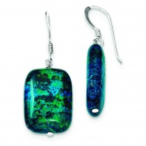 Stabilized Chrysocolla Earrings in Sterling Silver