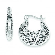 Filigree Hoops in Sterling Silver