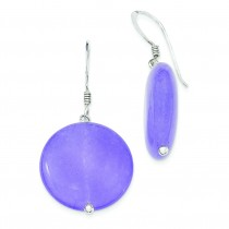 Lavender Jade Earrings in Sterling Silver