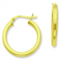Gold Flashed Hoop Earrings in Sterling Silver
